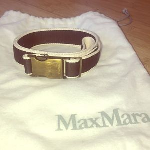 MaxMara Sporty Clip Belt Black and White Size 46